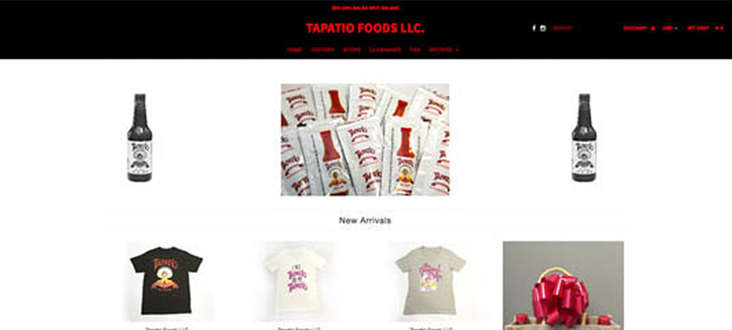 Old Tapatio Website Before Devise Interactive