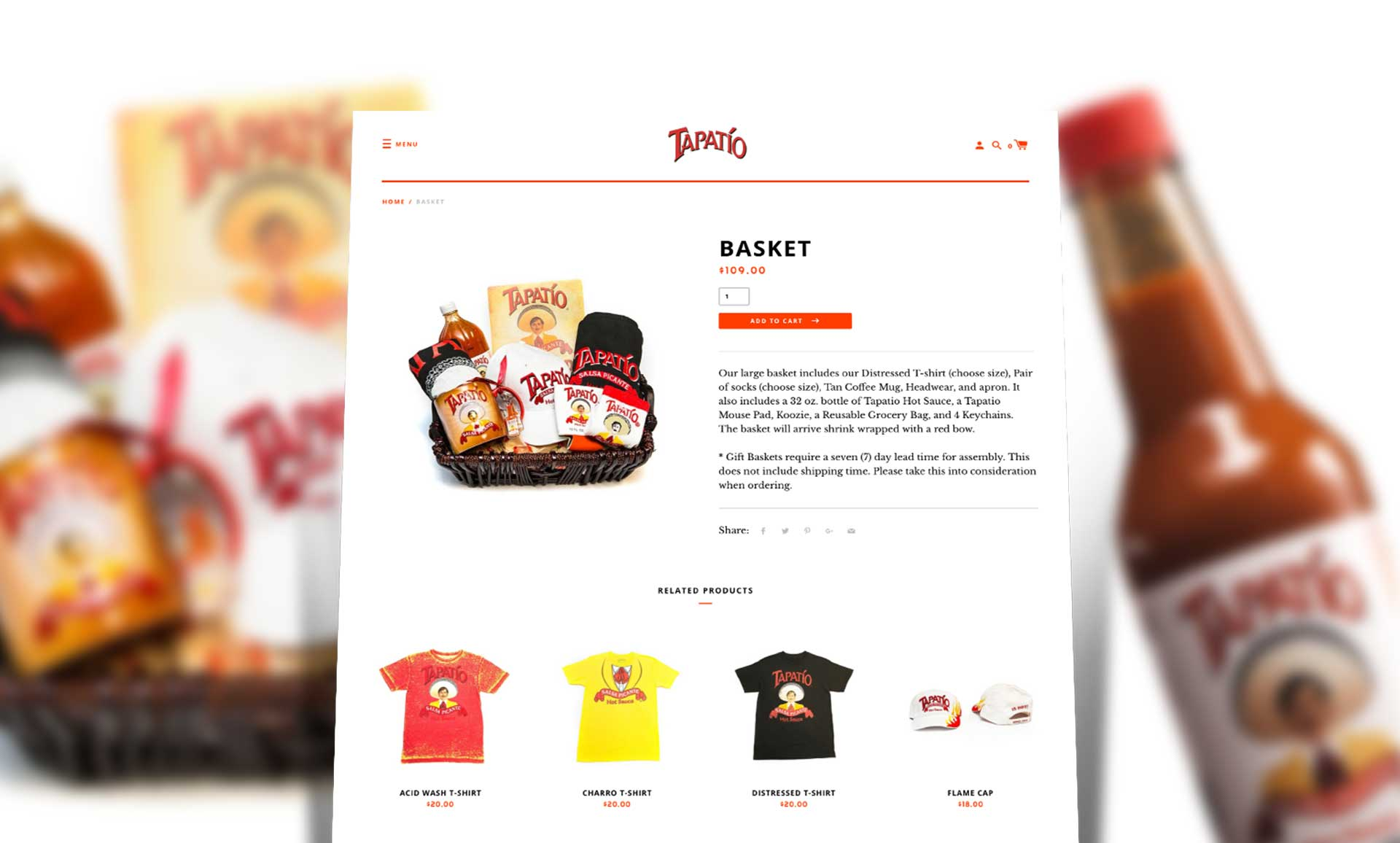 Tapatio Hot Sauce Product Page