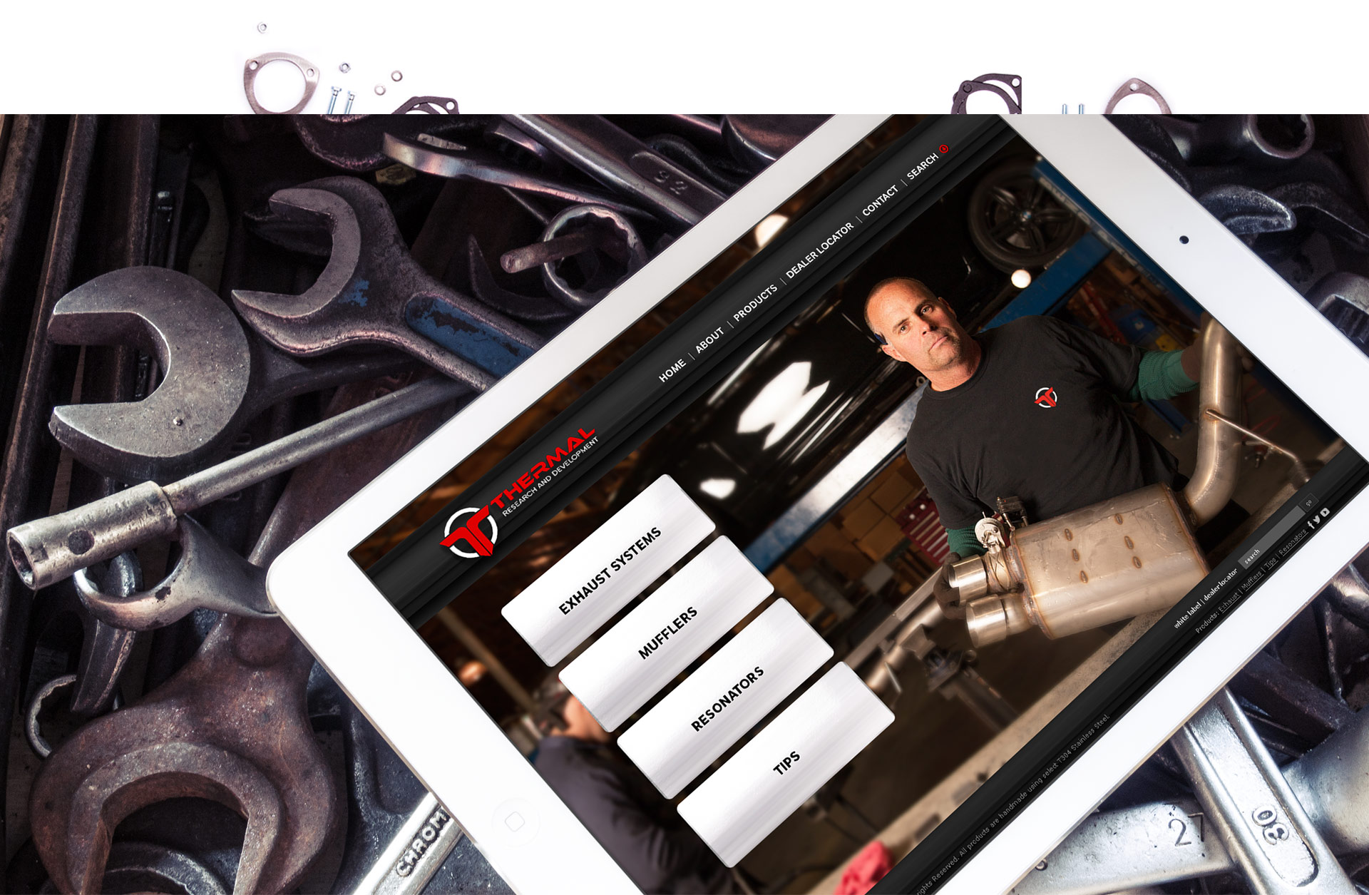 Thermal R&D Website on iPad