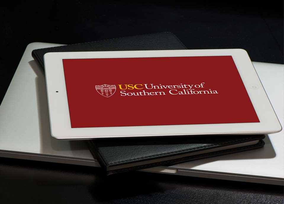 USC Mobile Application on iPad